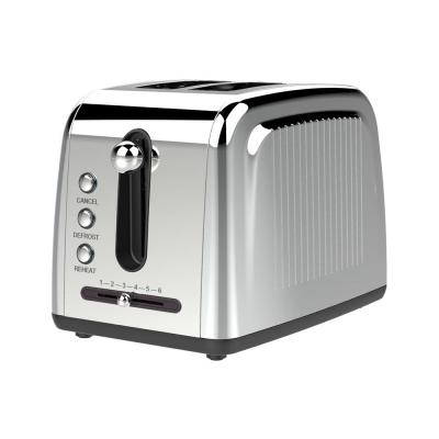 2-Slice Silver Extra-Wide Slot Toaster