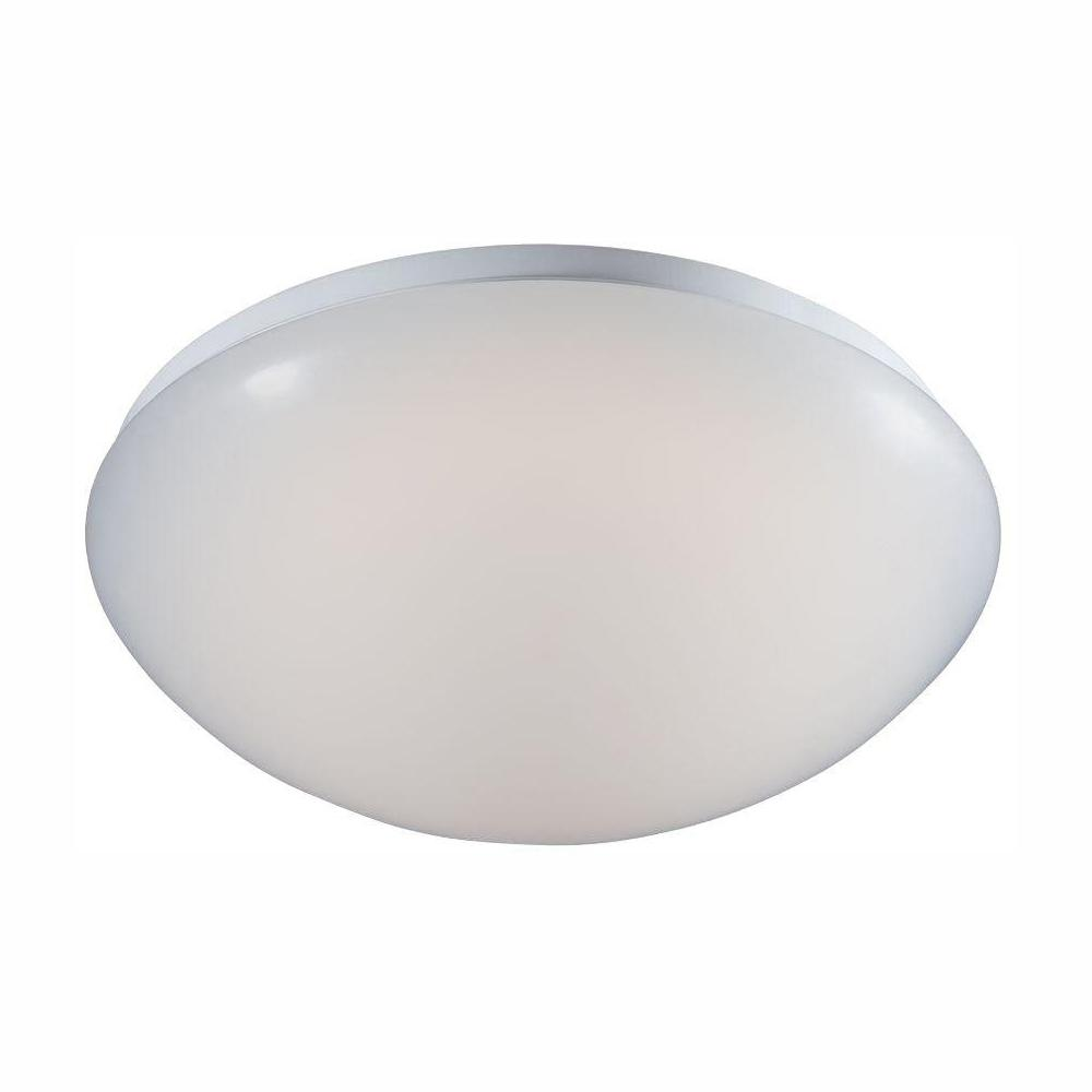 Low Profile White Integrated Led Round