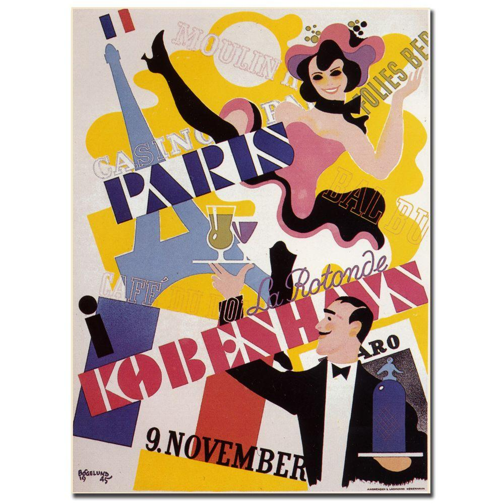 Trademark Fine Art 18 in. x 24 in. Paris Kobenhavs Canvas Art