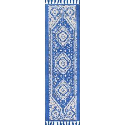 Noreen Blue 3 ft. x 8 ft. Runner Rug