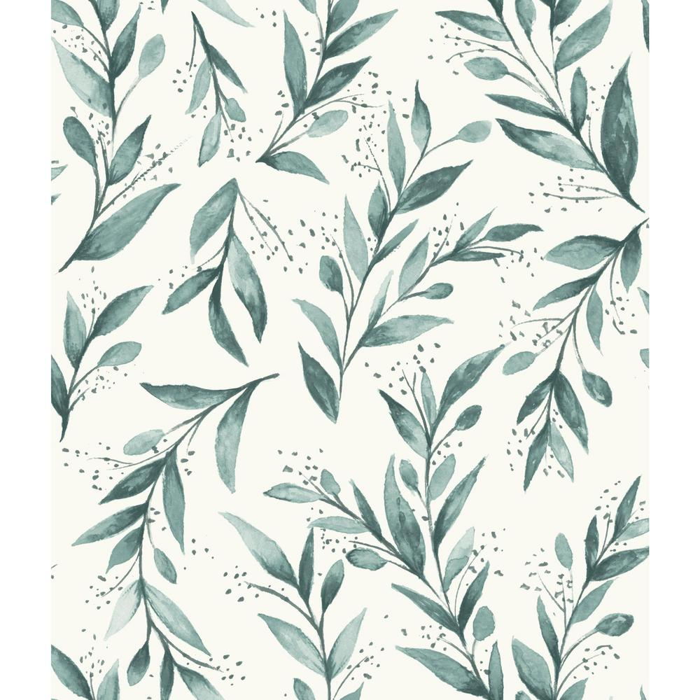 MagnoliaHomebyJoannaGaines Magnolia Home by Joanna Gaines 34 sq ft Magnolia Home Olive Branch Peel and Stick Wallpaper, Blue
