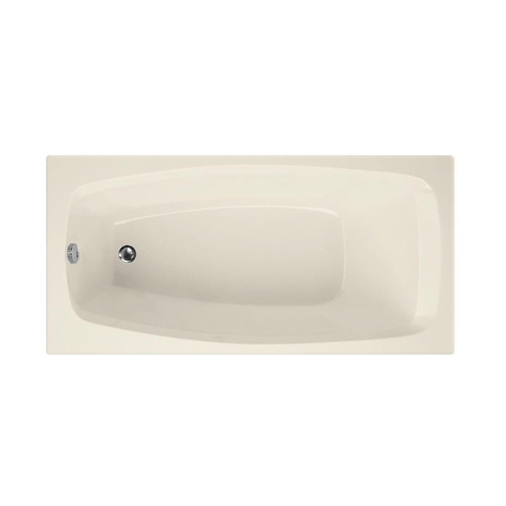 Carmel 5 ft. Reversible Drain Bathtub in Biscuit