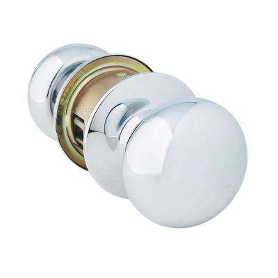Mercury Style Commercial Passage Hall/Closet Door Knob in Bright Chrome