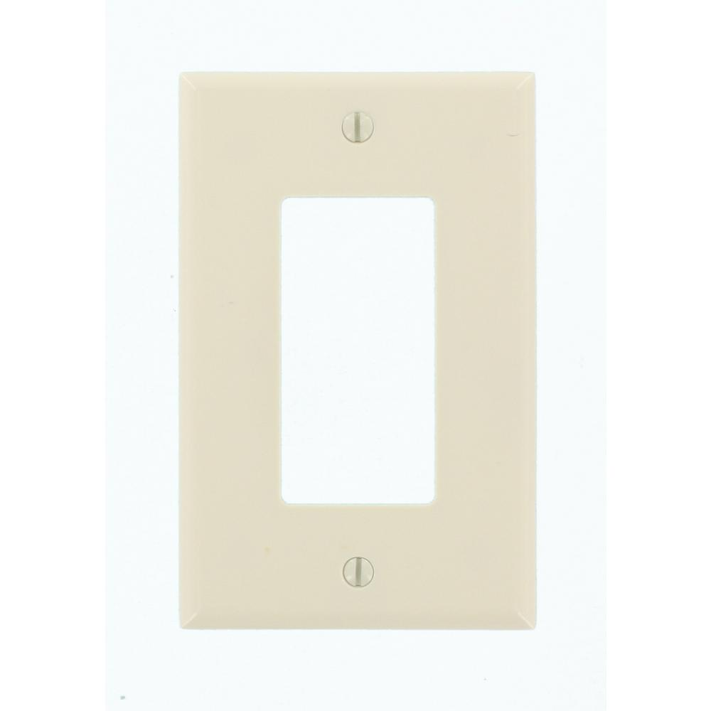 Leviton 1-Gang Decora Midway Rocker Switch Wall Plate, Light Almond ...