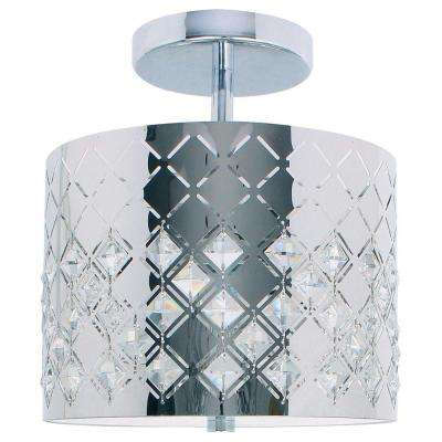 Marsala Collection Chrome Semi-Flush Mount Light