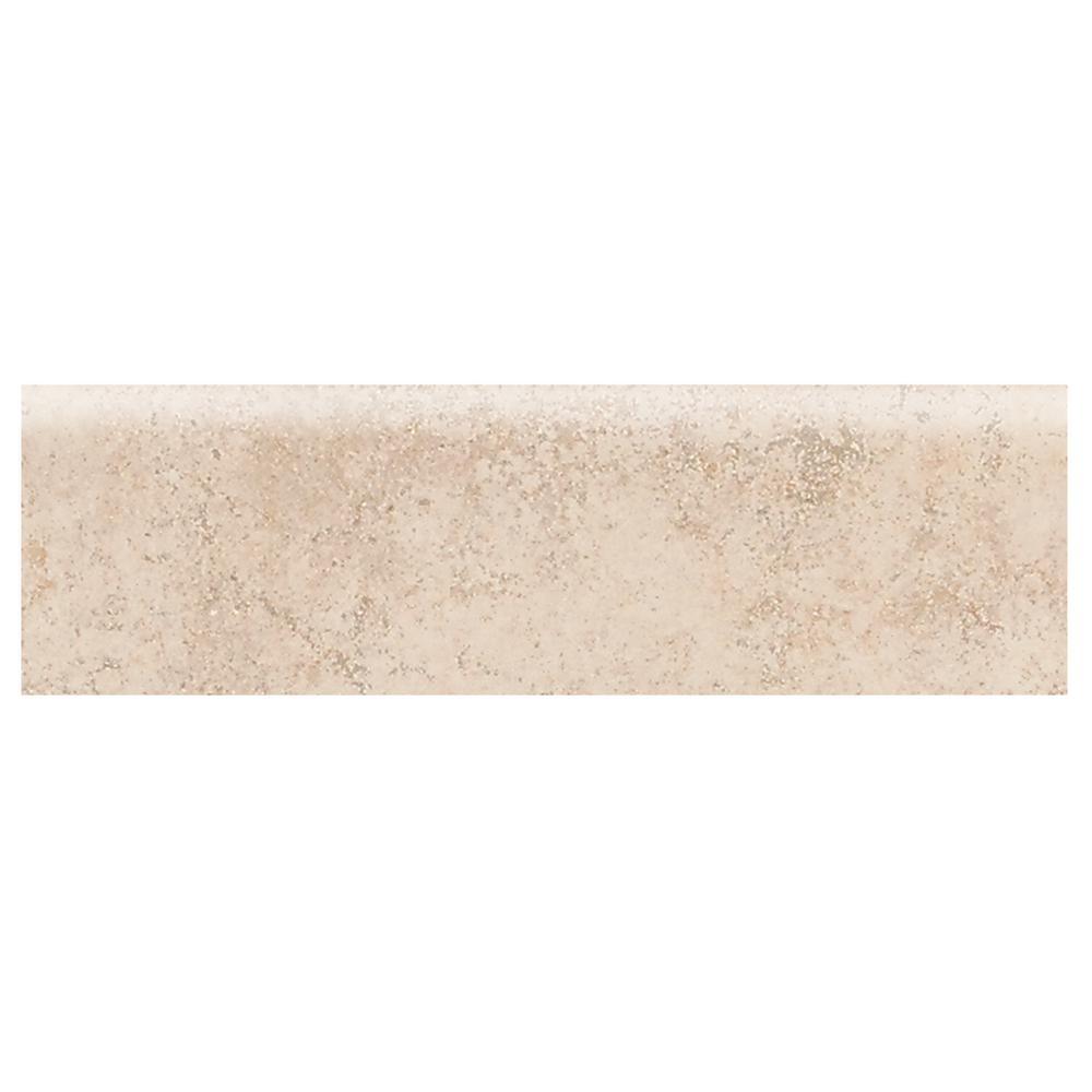 Briton Bone 3 in. x 12 in. Ceramic Bullnose Floor and Wall Tile