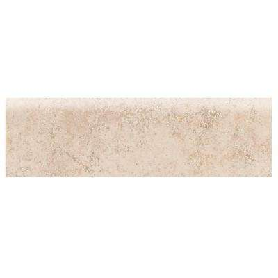 Briton Bone 3 in. x 12 in. Ceramic Bullnose Floor and Wall Tile