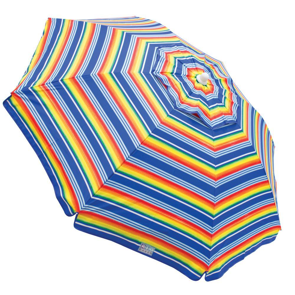 6 ft. Dia Beach Umbrella with Built-in Sand Anchor
