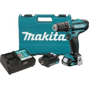 Makita 12-Volt Max CXT Lithium-Ion 3/8 in  Cordless Driver Drill Kit with  (2) Batteries (2 0 Ah), Charger and Hard Case-FD05R1 - The Home Depot