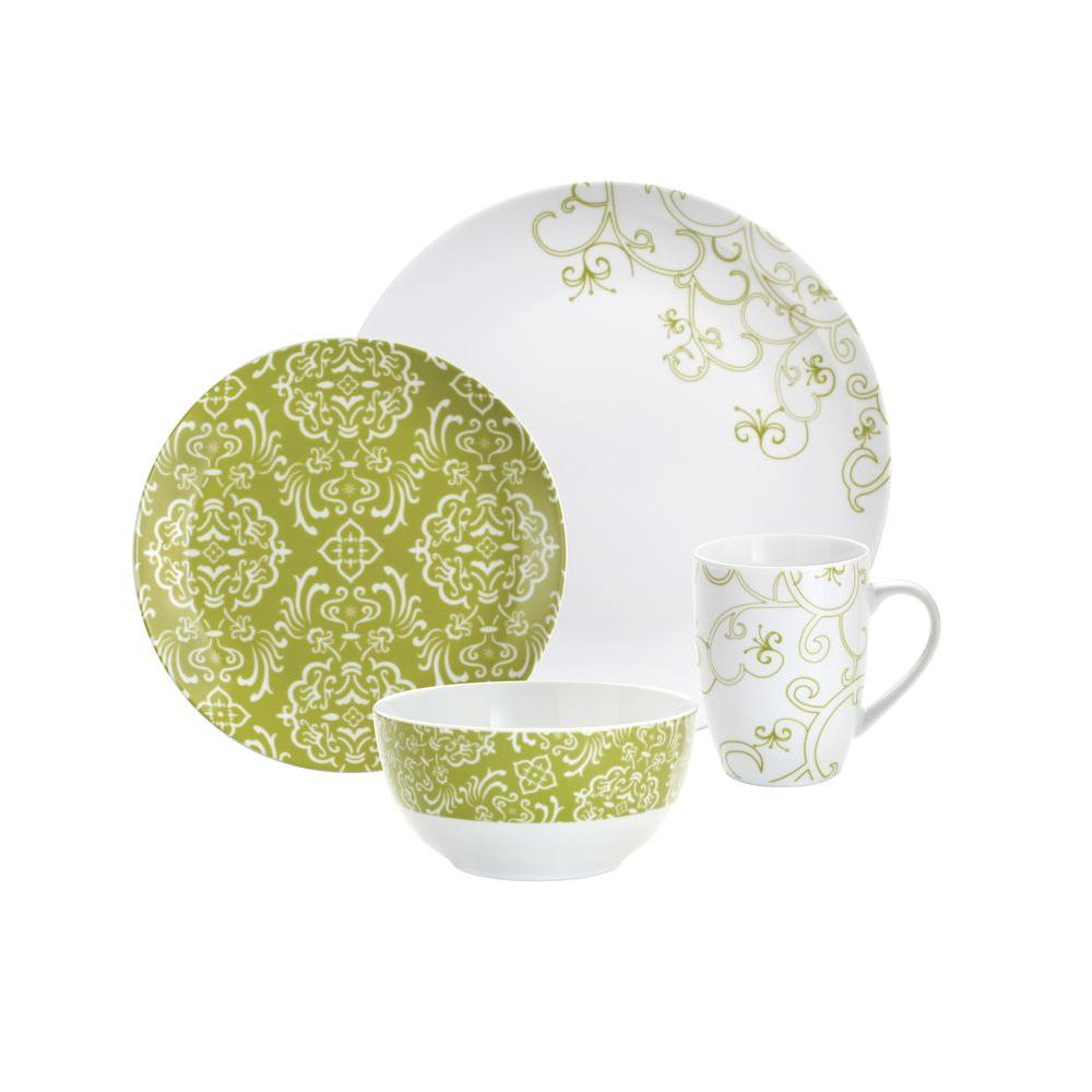 Rachael Ray Curly-Q 4-Piece Dinnerware Set