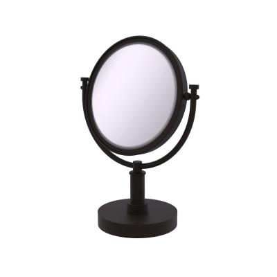 8 in. x 15 in. x 5 in. Vanity Top Single Makeup Mirror 4X Magnification in Oil Rubbed Bronze