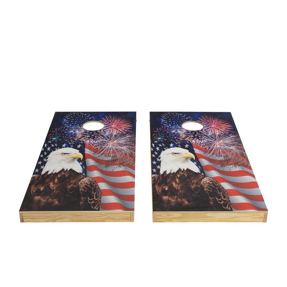Patriotic Wood Cornhole Set