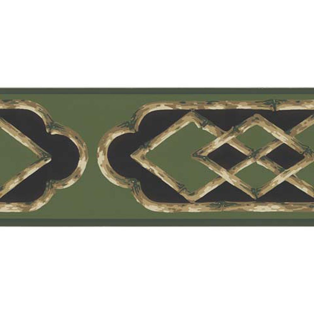 Bamboo Frame Wallpaper Border