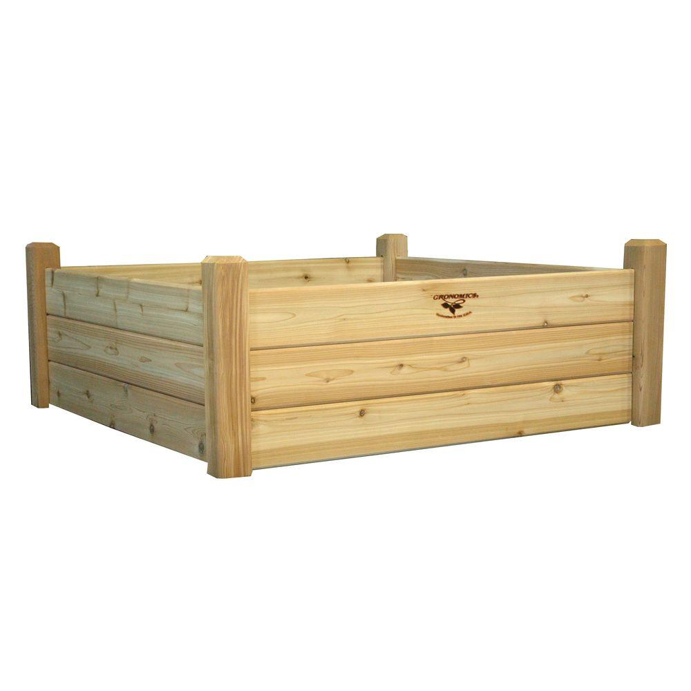 garden raised or redwood cedar rough to designs beds for boards bed top juniper build easy