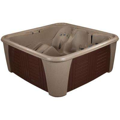 Harbor 6 Person 24 Jet Standard Hot Tub Cobblestone With Lounger PLUG and PLAY