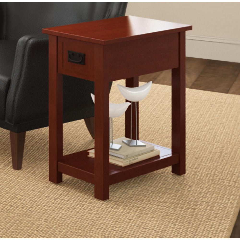 Cherry Side Table ~ Alaterre furniture cherry storage side table amia