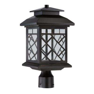 Woodmere Oil Rubbed Bronze Outdoor LED Post Lantern