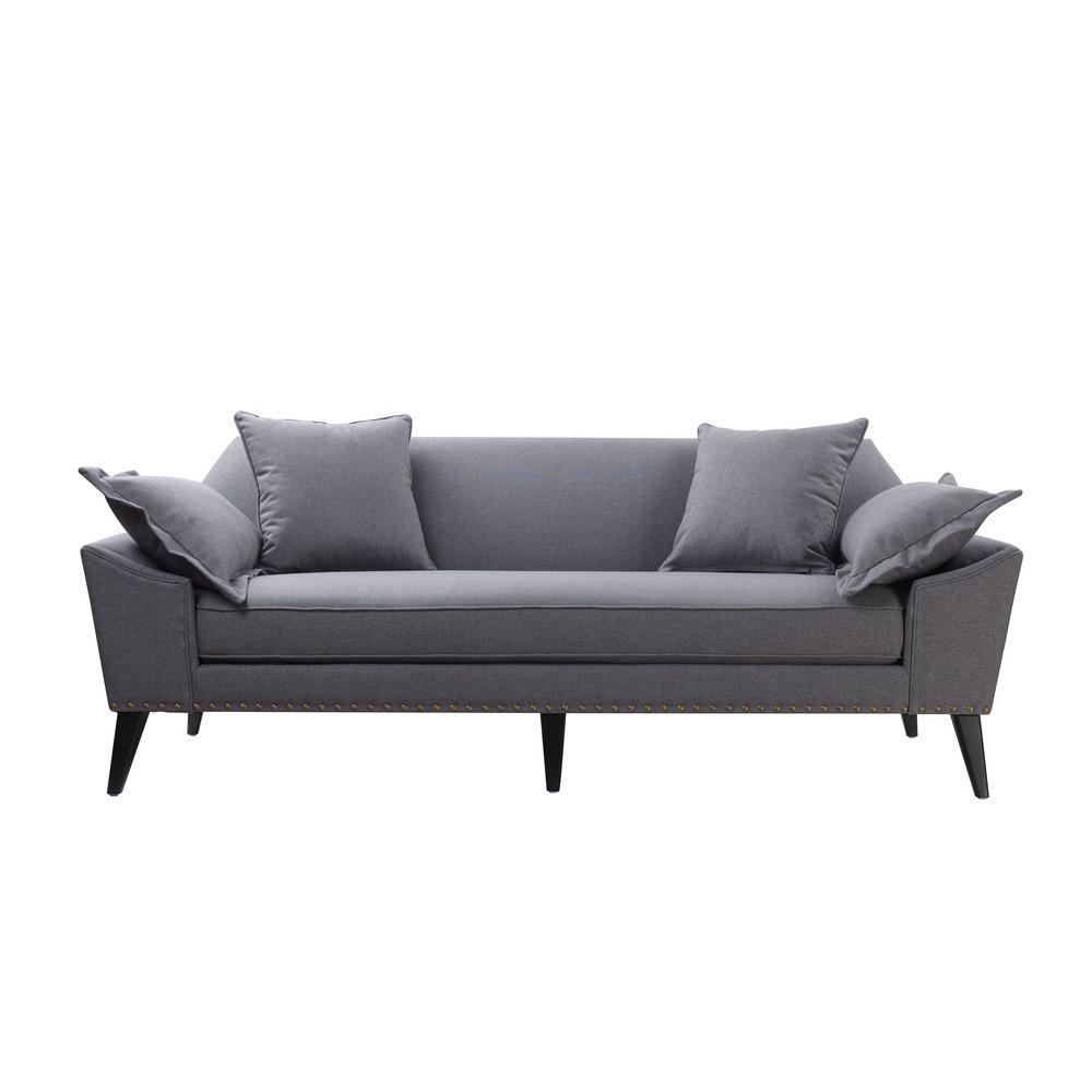 Jennifer Taylor Remington Steeple Grey Tuxedo Sofa