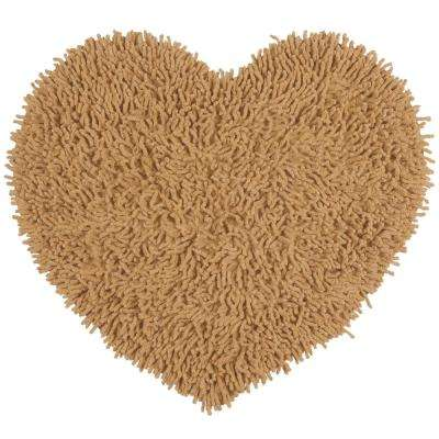 Tan Shag Chenille Twist 1 ft. 8 in. x 2 ft. Accent Rug