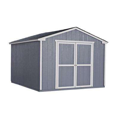 Cumberland 10 ft. x 12 ft. Wood Shed Kit with Floor Frame