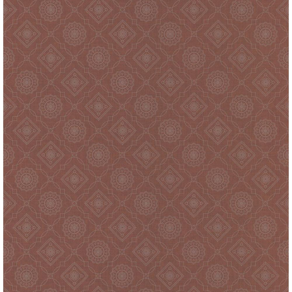 Northwoods Lodge Red Bandana Print Wallpaper Sample