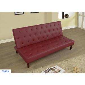 Internet 306056330 Burgundy Red Faux Leather Convertible Sofa Bed Futon