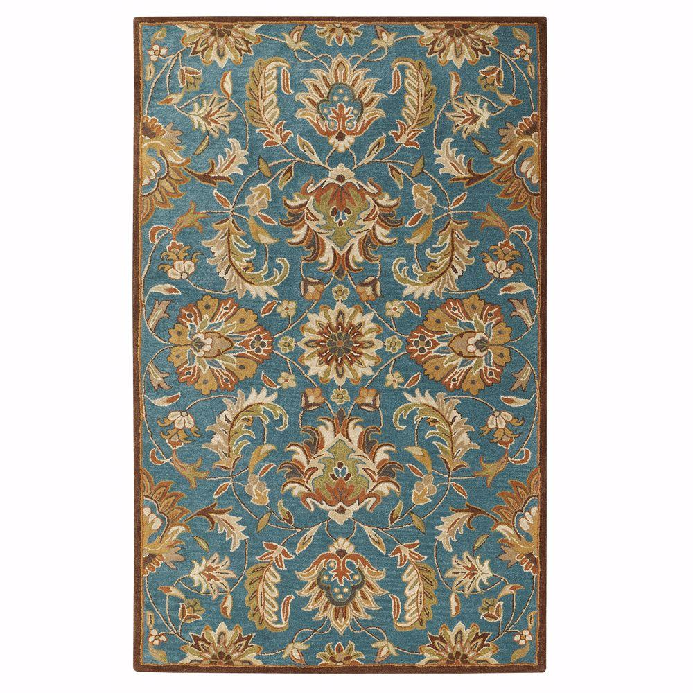 Home decorators collection vogue teal blue 6 ft x 9 ft for Home decorators rugs blue