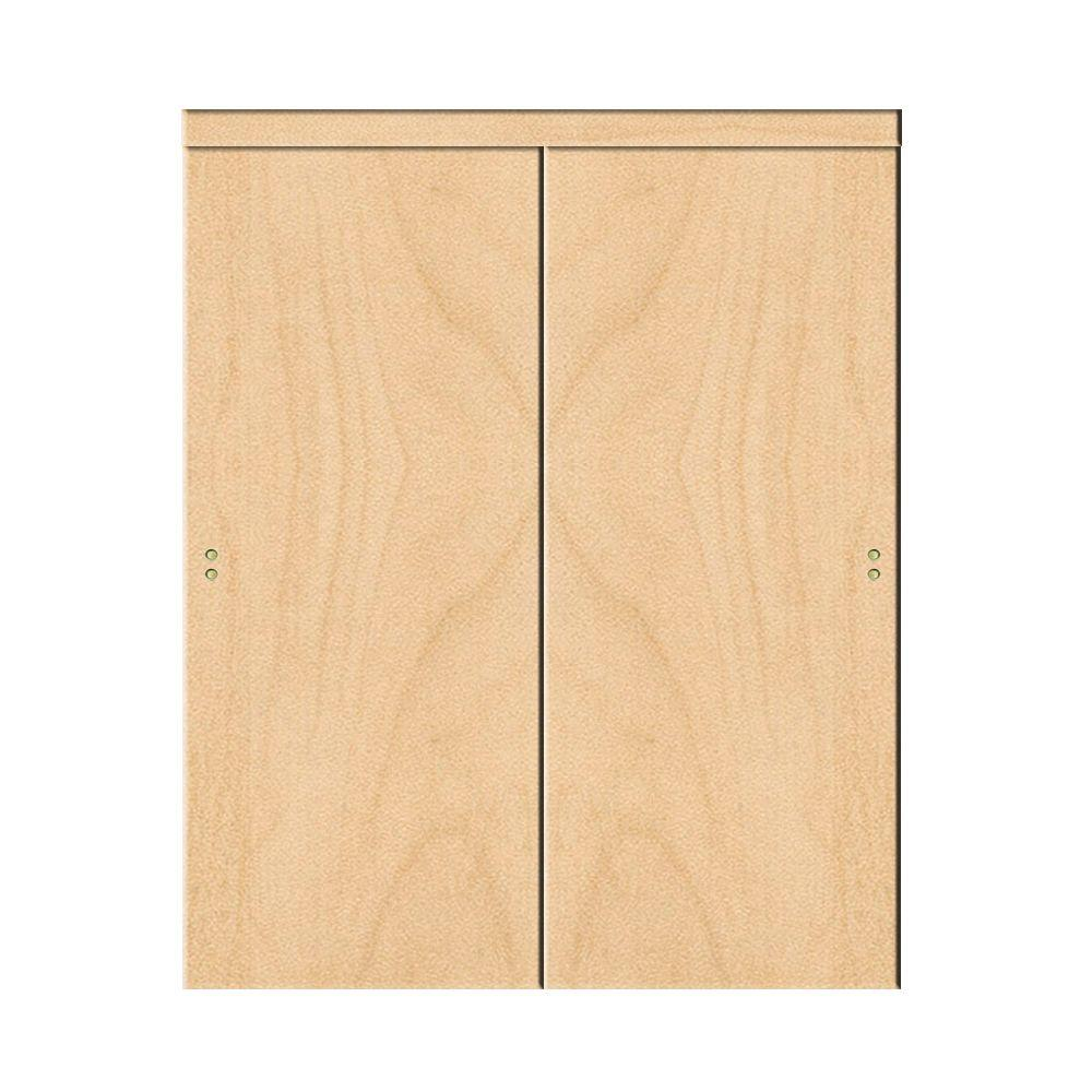 Exceptionnel Smooth Flush Solid Core Stain Grade Maple MDF Interior Closet Sliding Door  With Matching Trim