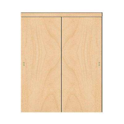 Smooth Flush Solid Core Primed MDF Interior Sliding Door With Trim