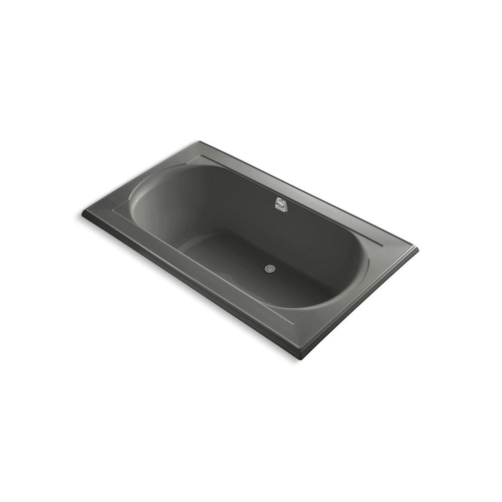 KOHLER Memoirs 6 ft. Center Drain Soaking Tub in Thunder Grey-DISCONTINUED