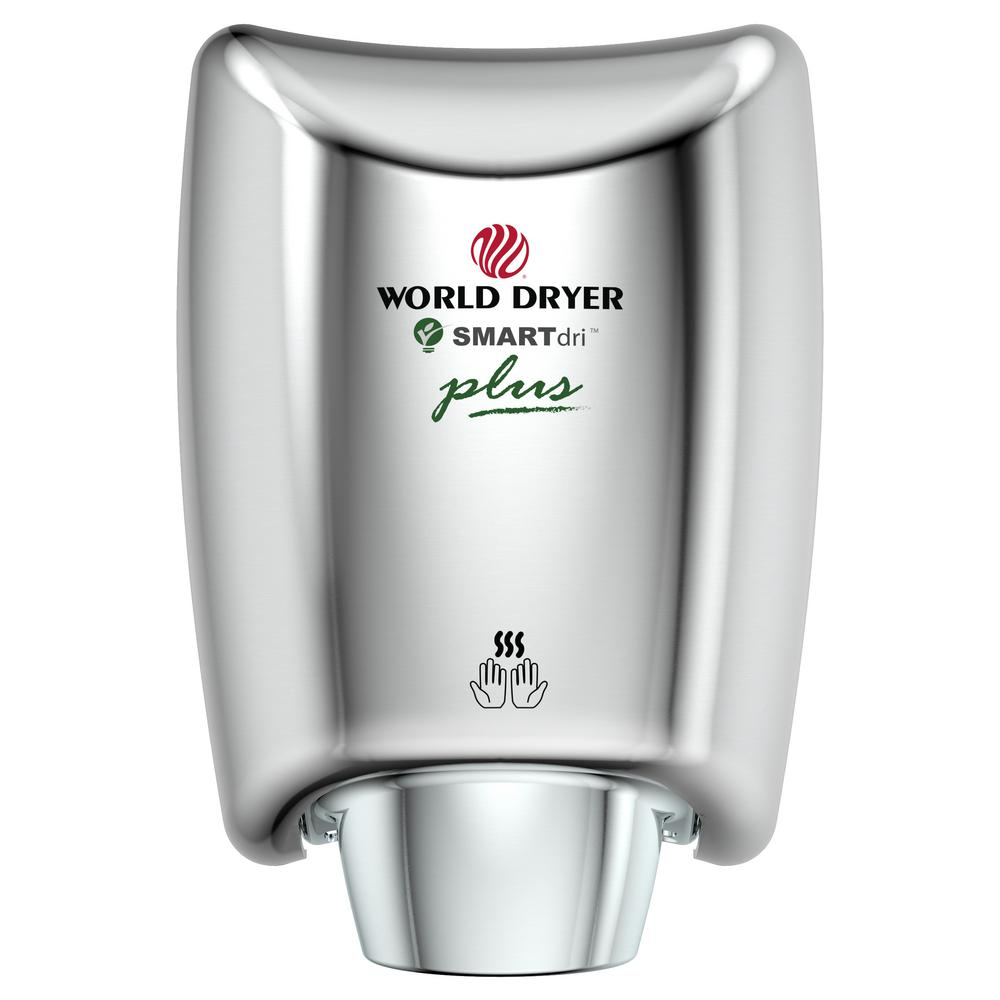 World Dryer Corporation SMARTdri Plus Hand Dryer in Polished Stainless Steel World Dryer Corporation SMARTdri Plus Hand Dryer in Polished Stainless Steel