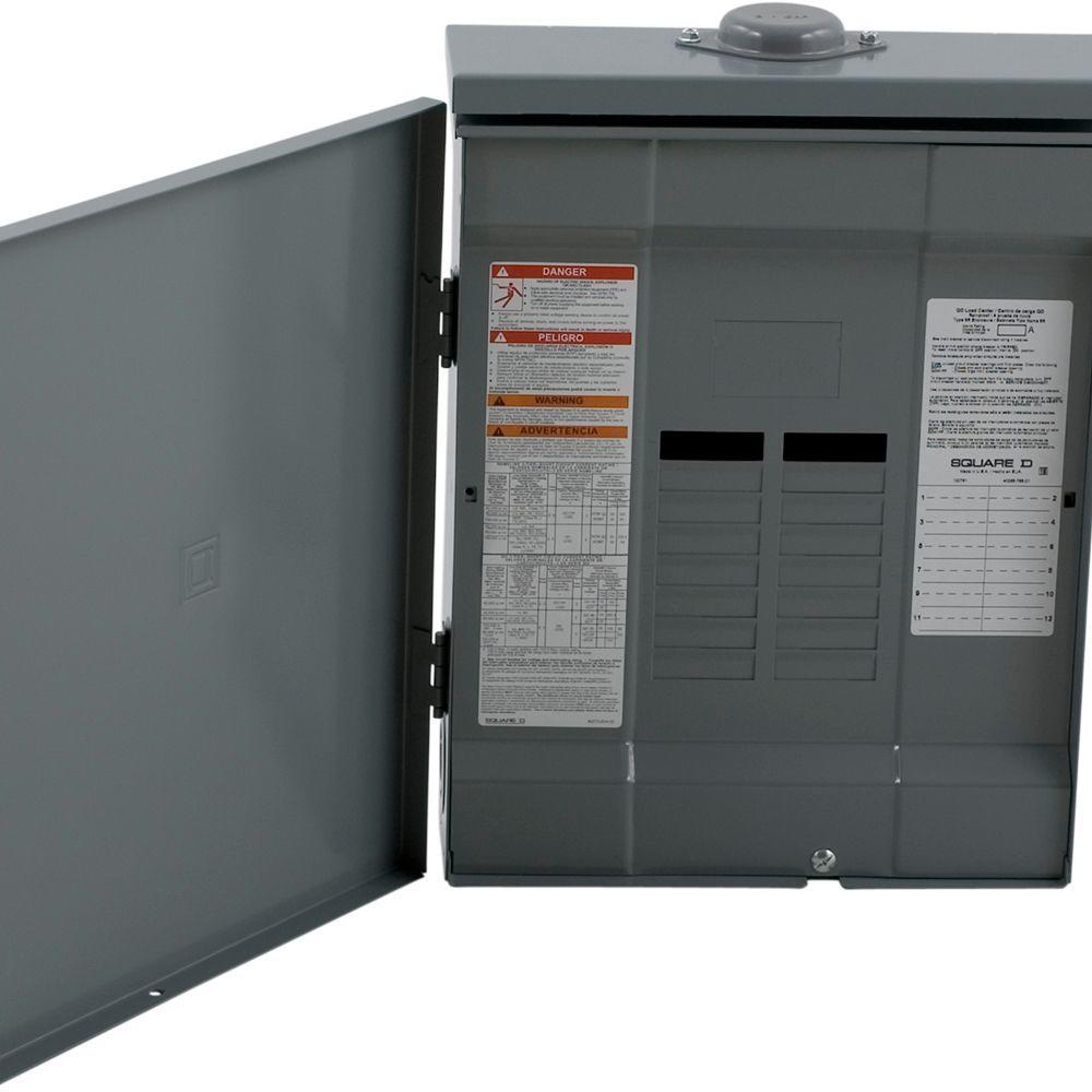 Square D Qo 125 Amp 12 Space 24 Circuit Outdoor Main Lug Load Center Shop 20amp Singlepole Breaker At Lowescom