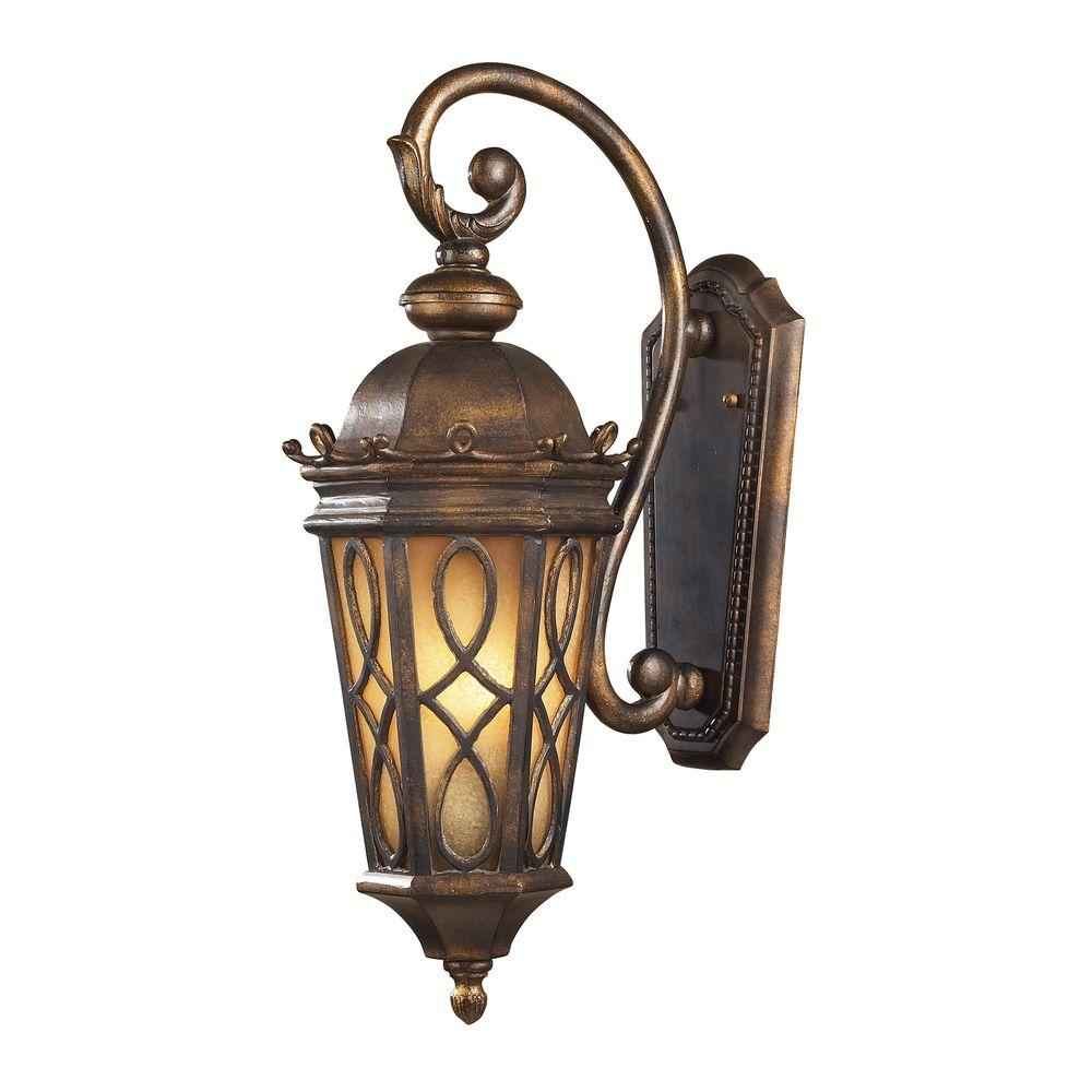 Titan Lighting Burlington Junction 2-Light Outdoor Hazelnut Bronze Sconce