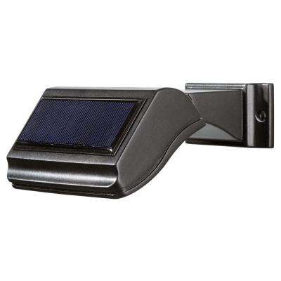 Illuminator Solar 6.75 in. Solar Address Lamp with 3 Led Bulbs