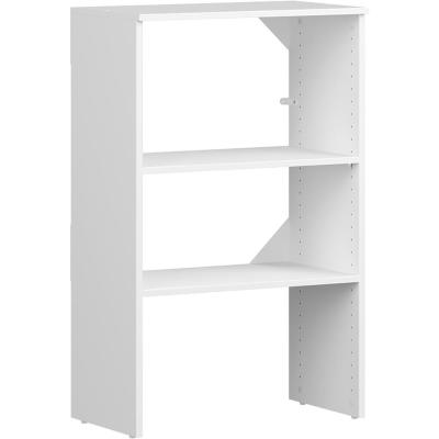Style+ 15 in. D x 25 in. W x 41 in. H White Melamine 3-Shelves Stackable Base Unit Closet System