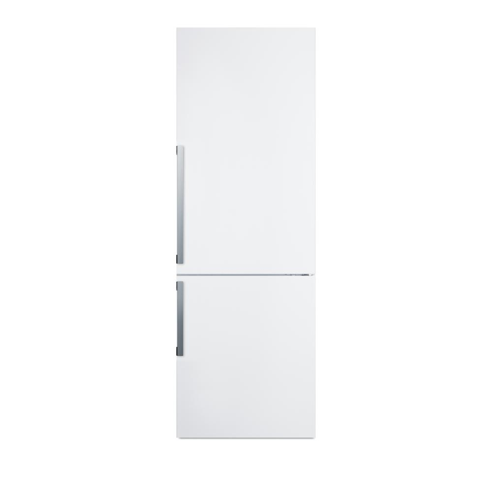 24 in. 11.35 cu. ft. Bottom Freezer Refrigerator in White, Counter