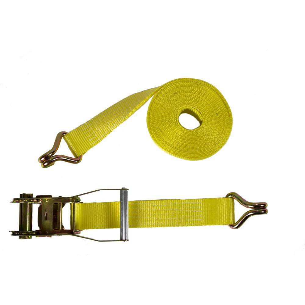 2 in. x 27 ft. Heavy Duty Ratchet Buckled Strap
