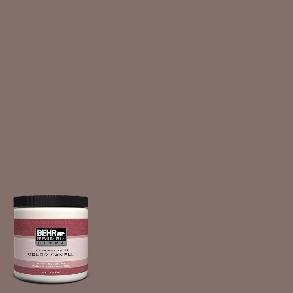 BEHR Premium Plus Ultra 8 oz. #740B-5 Bradford Brown Interior/Exterior Paint Sample
