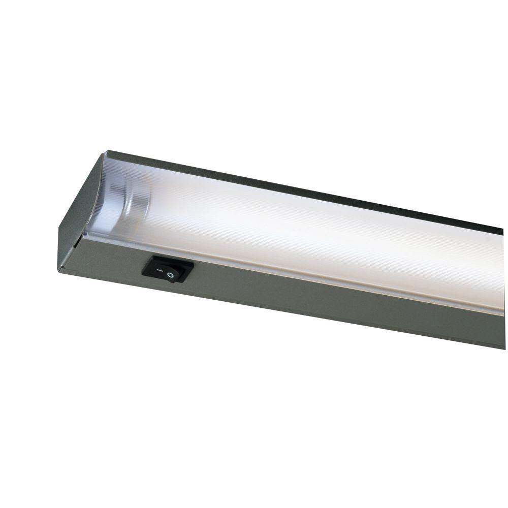 Fluorescent bar strip lights under cabinet lights the home silver fluorescent under cabinet economy fixture aloadofball Image collections