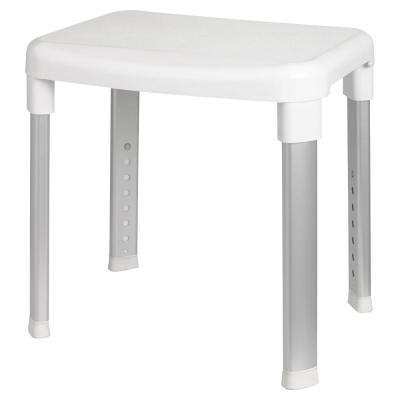 Deluxe Bathroom Safety Shower Seat without Back Support in White
