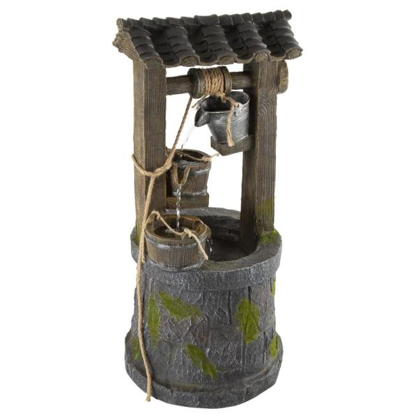 4-Tier Wishing Well Cascading Waterfall Water Fountain