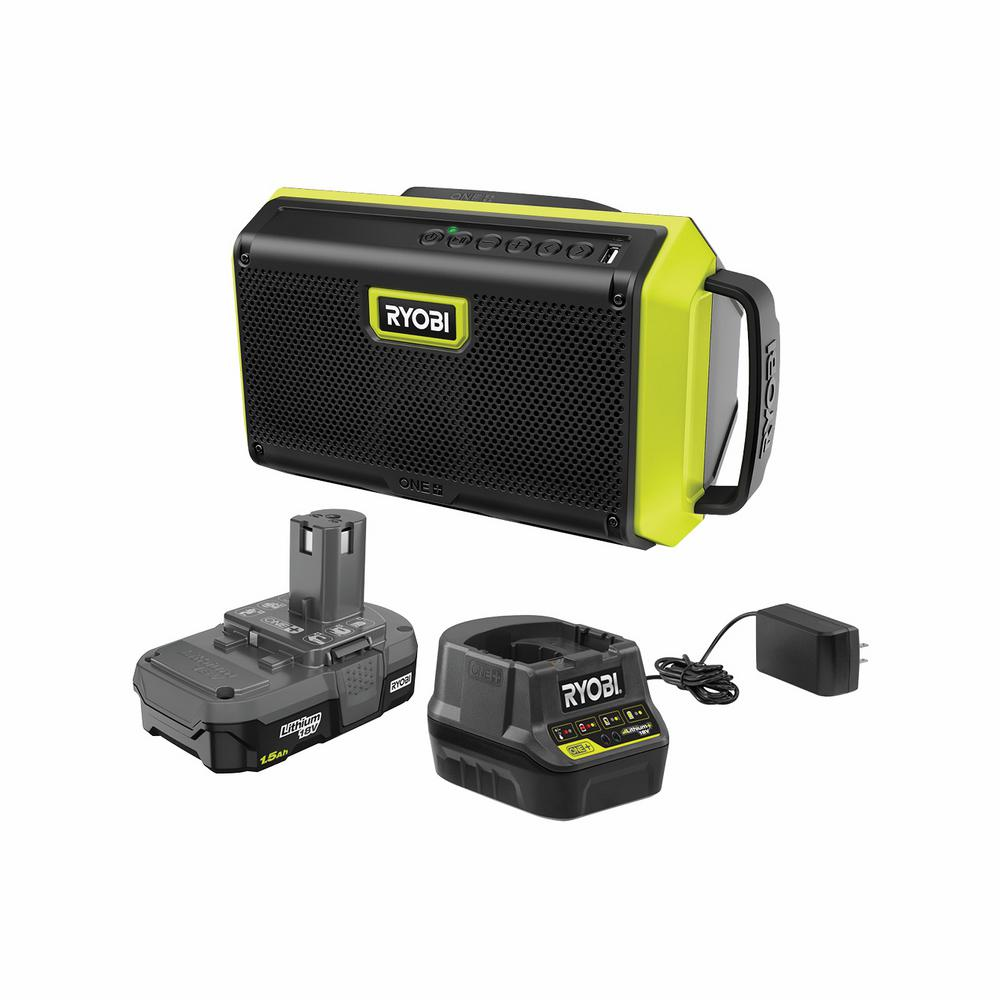 ONE+ 18V Cordless Speaker with Bluetooth Kit with 1.5 Ah Battery and Charger