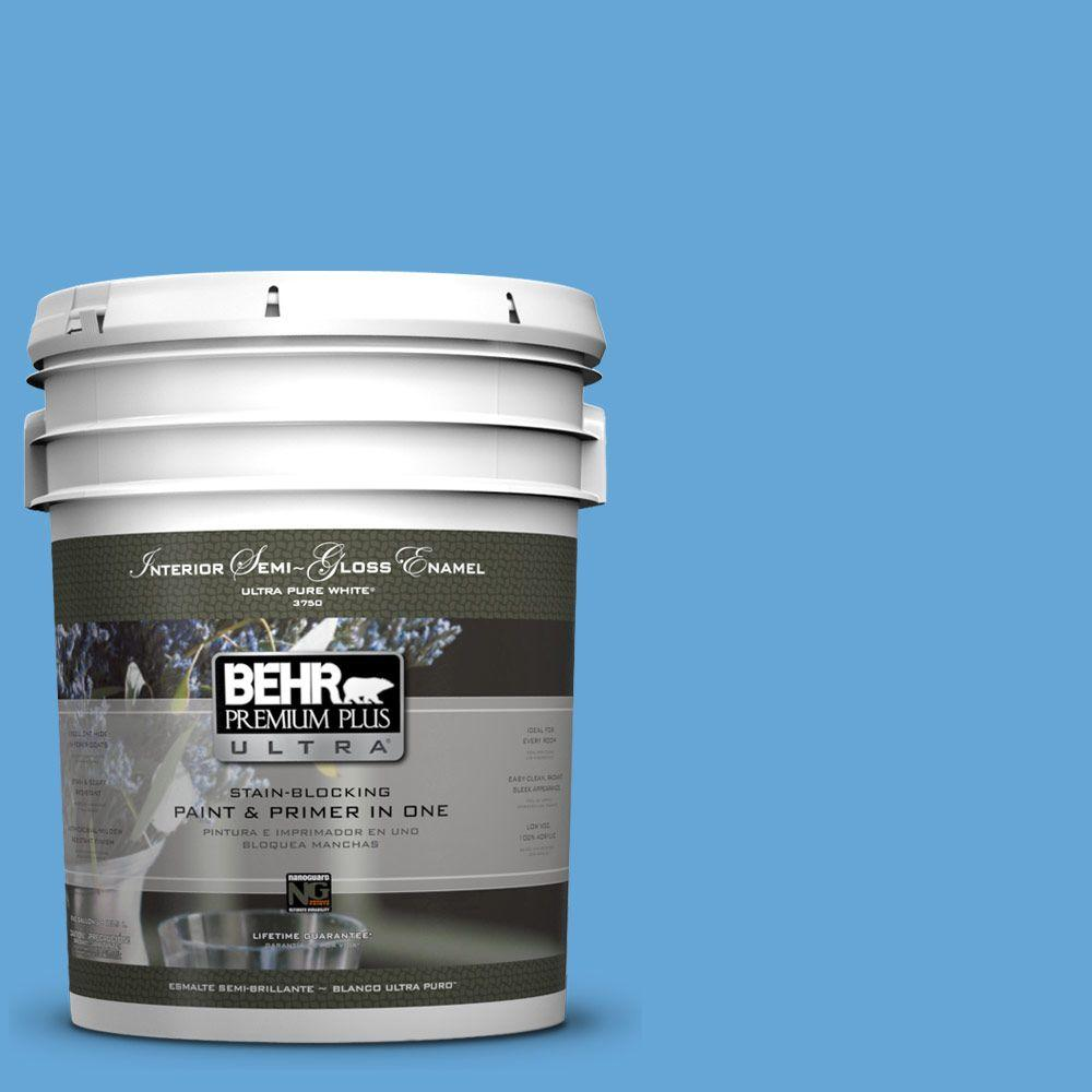 BEHR Premium Plus Ultra 5-gal. #560B-5 Ocean Tropic Semi-Gloss Enamel Interior Paint