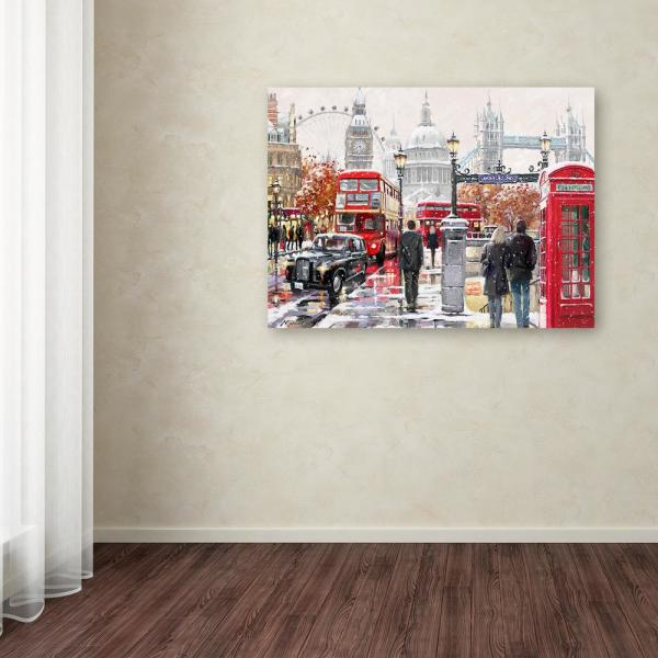 Trademark Fine Art 14 In X 19 In London Collagex2 Copy By The Macneil Studio Printed Canvas Wall Art Ali8647 C1419gg The Home Depot