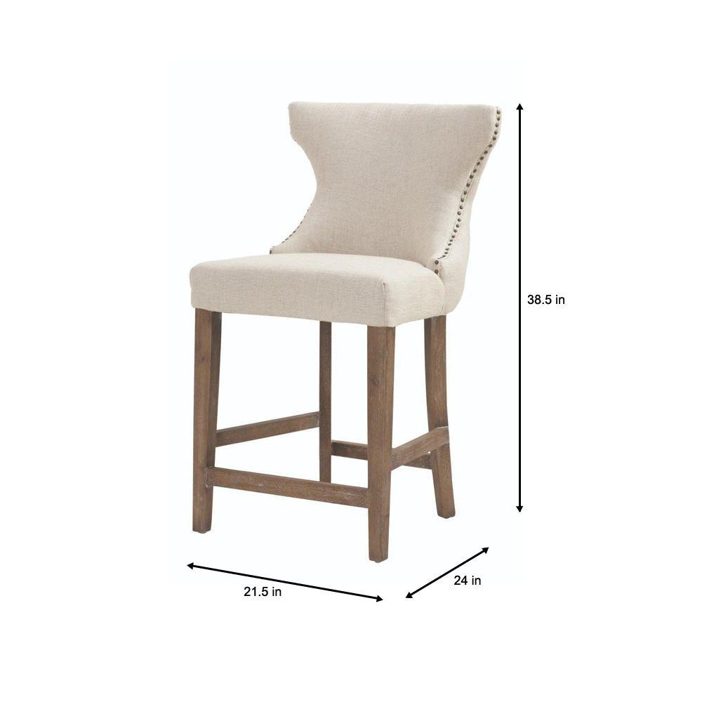 Astonishing Home Decorators Collection Scarlett 24 In Natural Textured Machost Co Dining Chair Design Ideas Machostcouk