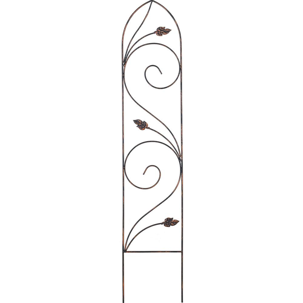 Arcadia Garden Products Autumn Leaf 48 In. X 10 In. Metal Trellis