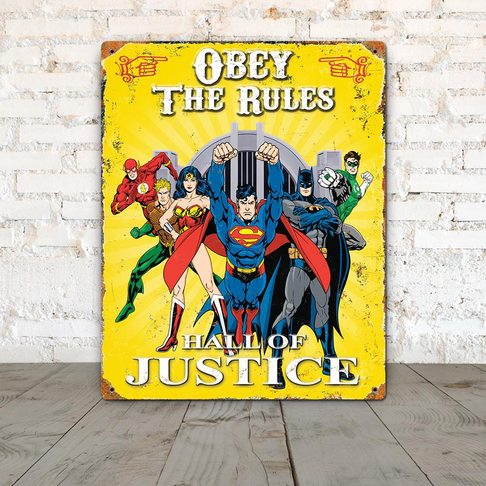 Party Animal, Inc. Justice League Embossed Metal Sign, Various was $20.99 now $14.06 (33.0% off)