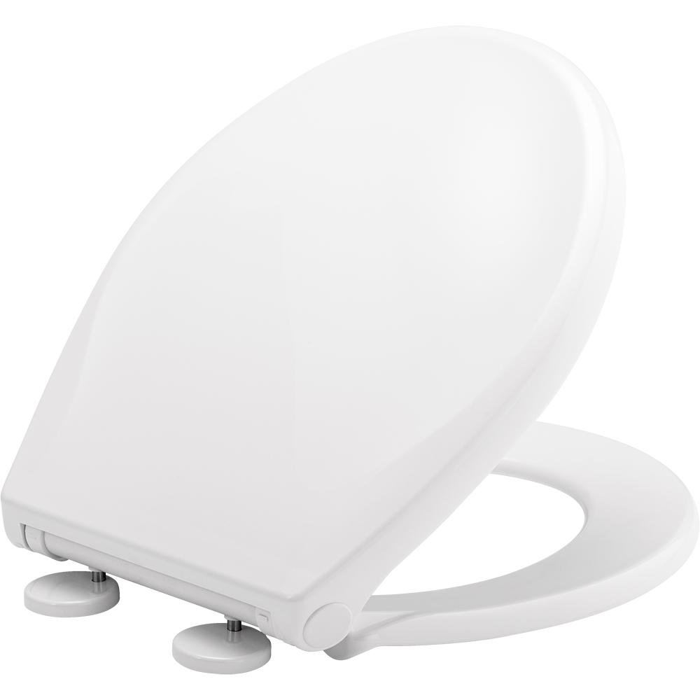 Bemis BEMIS Push n'Clean Round Closed Front Toilet Seat in White