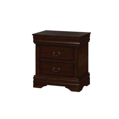 Eugenia Brown Cherry Transitional Style Nightstand