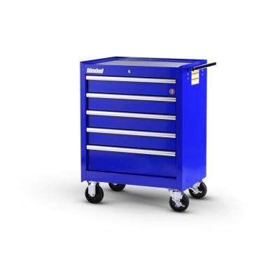 Workshop Series 27 in. 5-Drawer Roller Cabinet Tool Chest in Blue